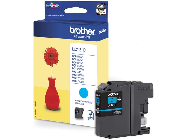 Inkjet Brother LC-121C cyaan