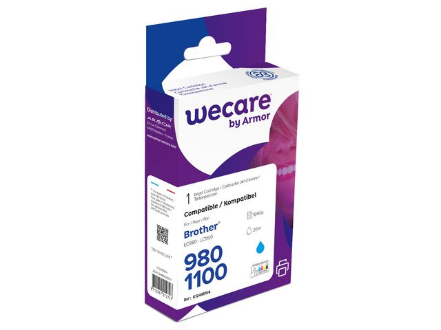 Inkjet Wecare Brother LC980/1100 cyan