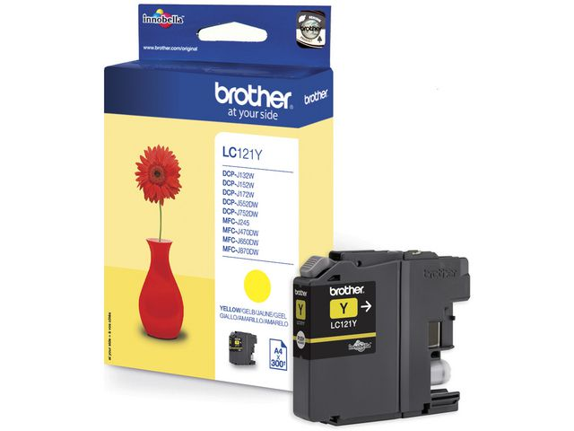 Inkjet Brother LC-121Y geel