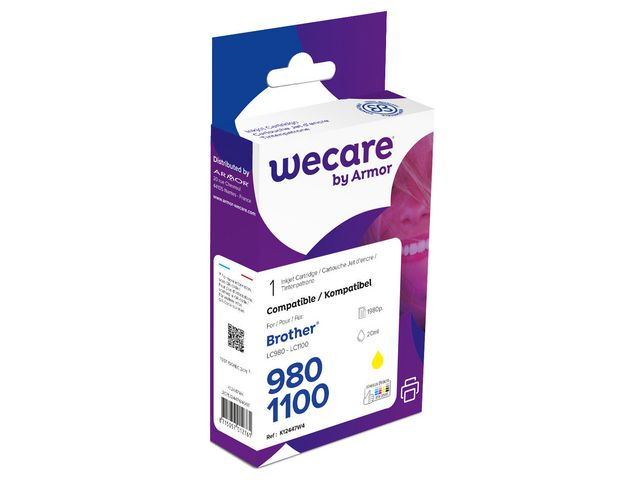 Inkjet Wecare Brother LC980/LC1100 geel