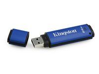Kingston DataTraveler Vault Privacy, USB-flashstation, 3.0, 64 GB, blauw/zwart