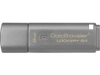Kingston DataTraveler Locker+ G3 , USB-flashstation, 3.0, 8GB, Grijs
