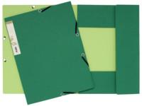 Exacompta Elastomap Forever 2-kleurig karton A4, 380 g/m², donkergroen/lichtgroen (pak 25 stuks)