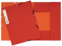 Exacompta Elastomap Forever 2-kleurig karton A4, 380 g/m², rood/oranje (pak 25 stuks)